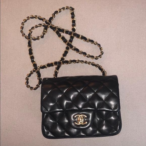 ec07b4f8d8aab5 CHANEL Handbags - Chanel Mini Flap Bag - Lambskin & Gold-Tone Metal